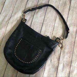 The Sak Happy & Free Black Leather Studded bag